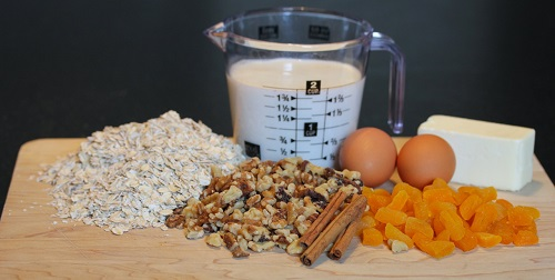 Ingredients for baked oatmeal