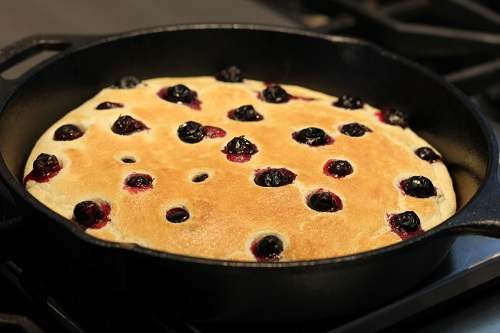 Sweet Sloping Skies of Montana- Pancakes in skillet