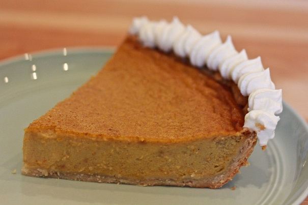 Pumpkin Pie With Ginger Slice