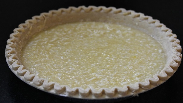 Laura Bush's Buttermilk Coconut Pie filling