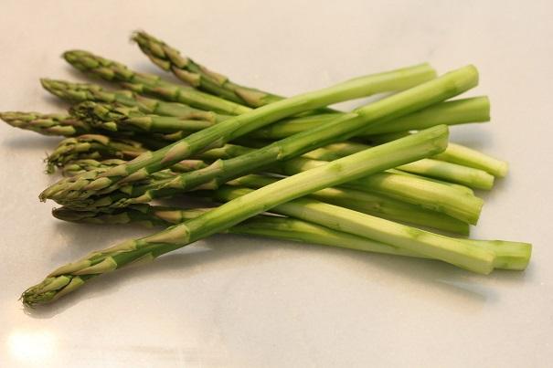 Laura Bush's Salmon Orzo Salad Asparagus