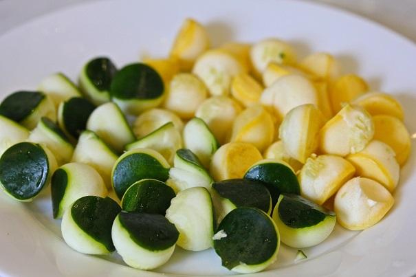 Laura Bush's Salmon Orzo Salad Zucchini and Squash