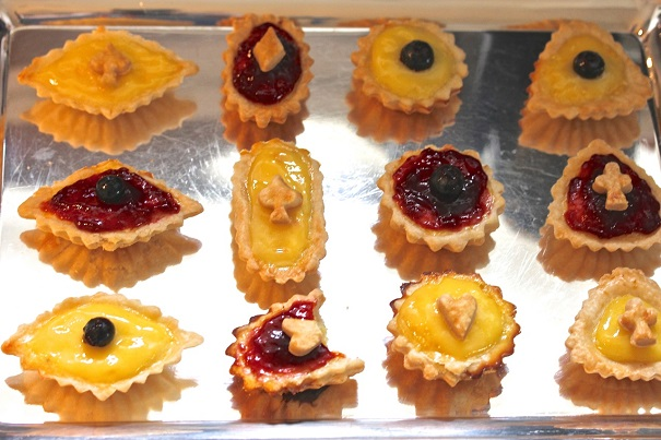Tarts with toppers