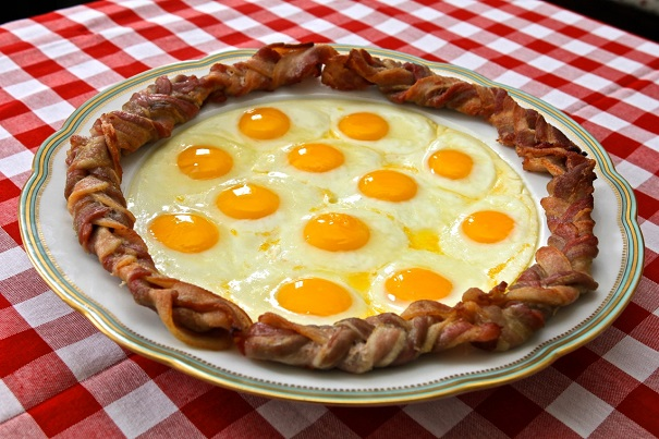 Ron Swanson's 5 Favorite Foods  Eggs in a Bacon Wreath