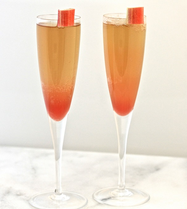 5 Spring Cocktails- Rhubarb Mimosa