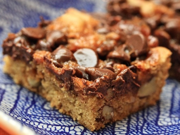 Cajeta Chocolate Chip Brownie on Americas-Table.com