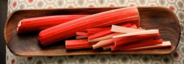 Rhubarb sticks on Americas-table.com