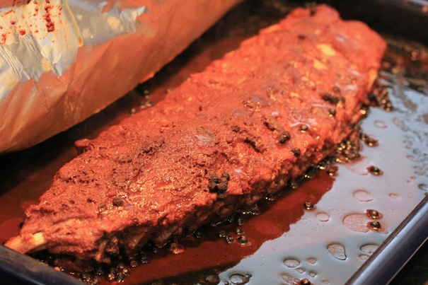 Chocolate Rubbed Ribs on Americas-Table.com