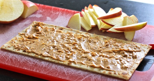 Peanut Butter and Apple on a Whole Wheat Wrap