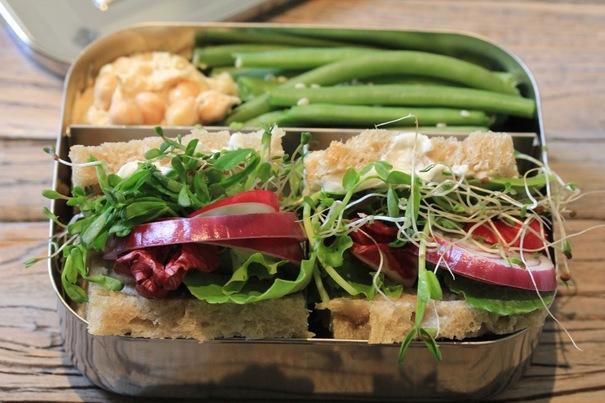 Veggie Sandwich on Multi-grain Bread on Americas-Table.com