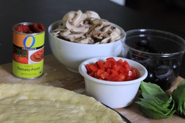 Gluten Free Pizza ingredients