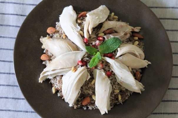 Lebanese Stuffed Rice and Chicken on Americas-Table.com