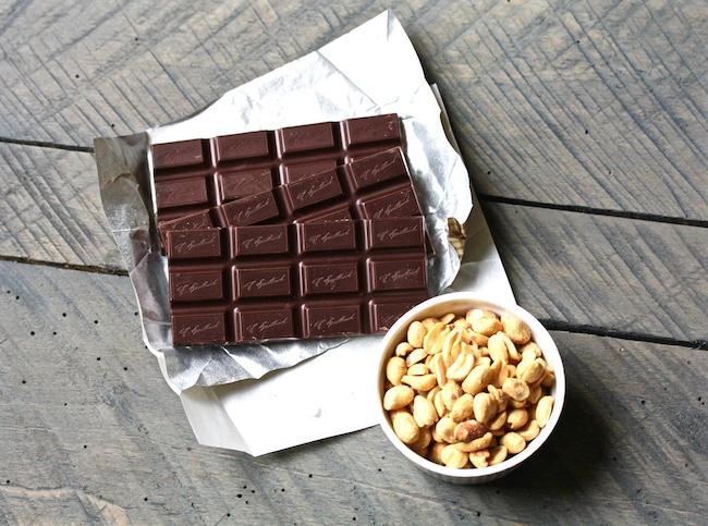 Dark Chocolate Peanut Butter Sandwich Cookies