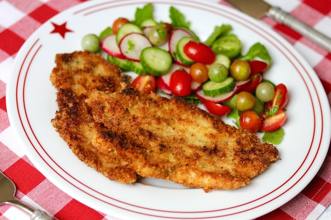 Chicken Schnitzel by Laura Bush