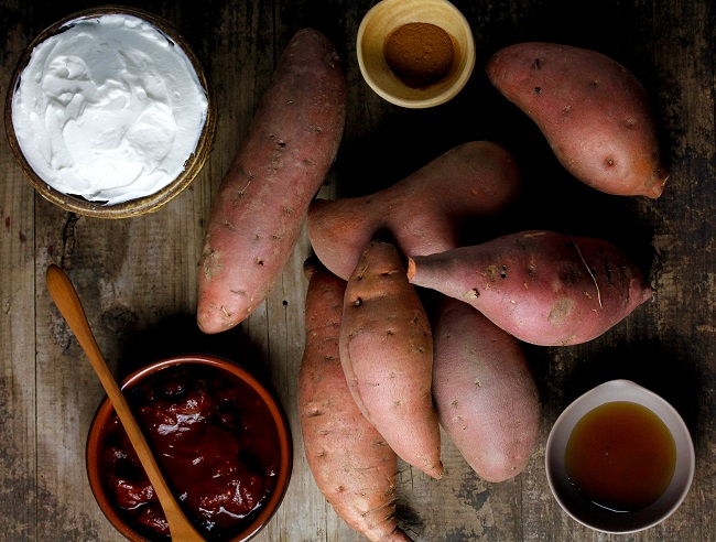MASHED SWEET AND SPICY SWEET POTATOES